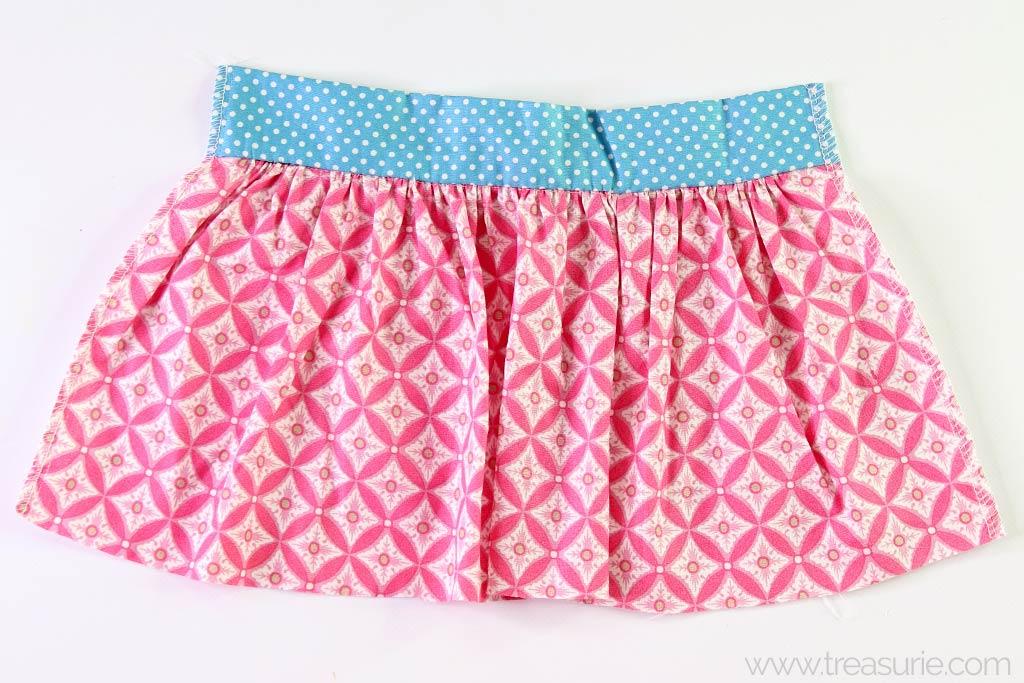 Gathered Skirt Pattern - Finish Sides
