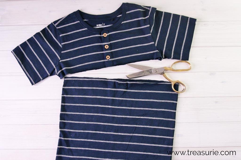 T-Shirt to Skirt - Cutting