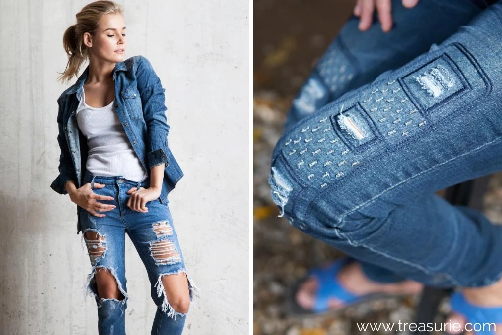 Types of Jeans - Ripped and Distressed