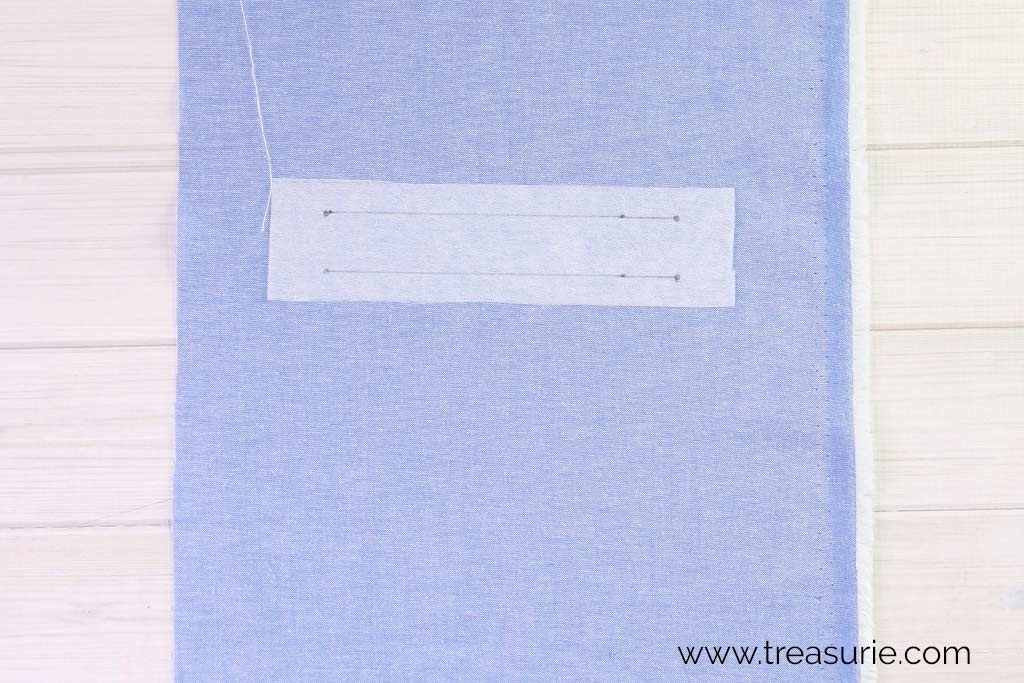 How to Sew Welt Pockets - Fuse Interfacing