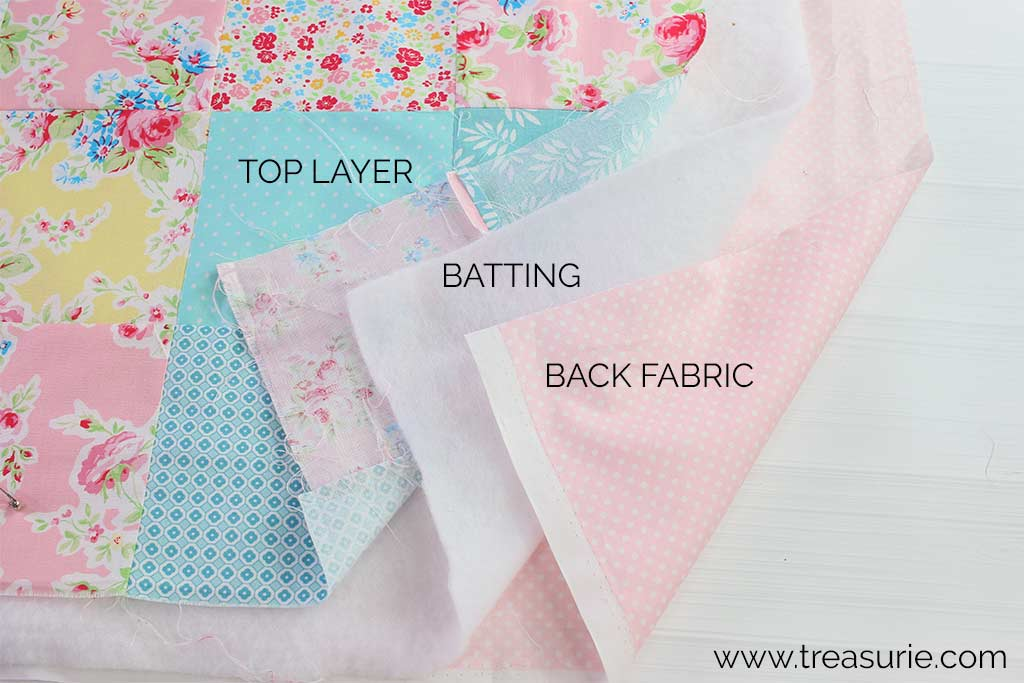 Basting a Quilt - Preparation Layers