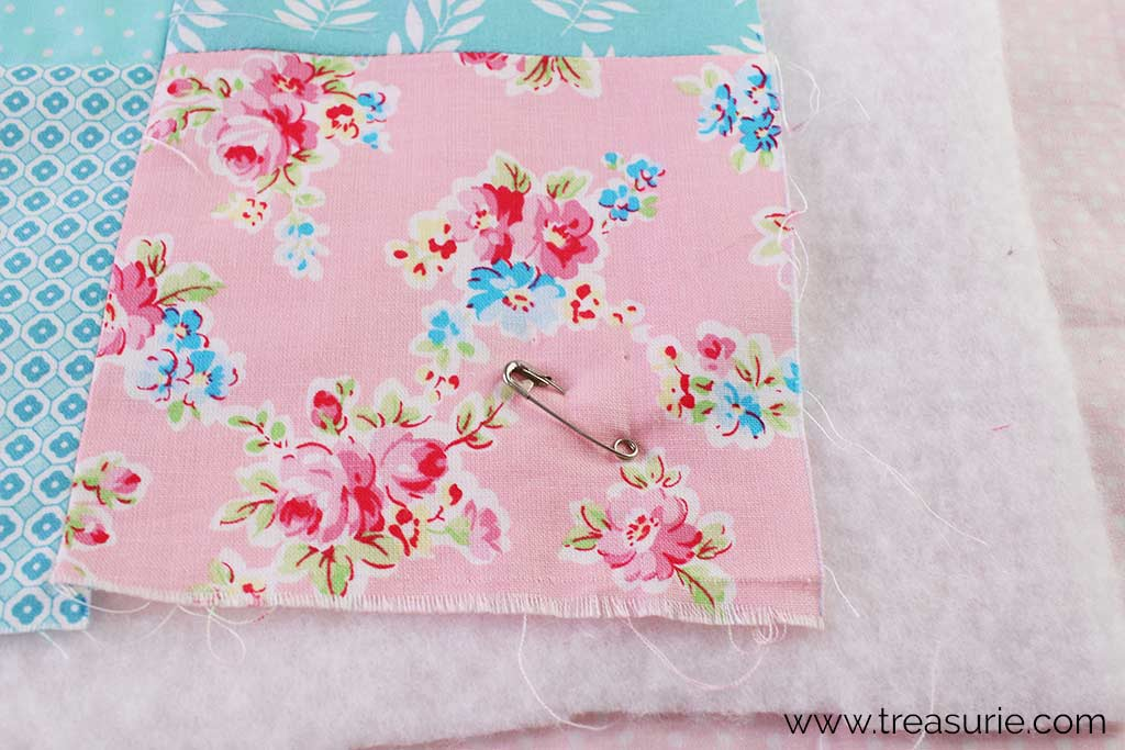 How to Make a Baby Quilt - Pins