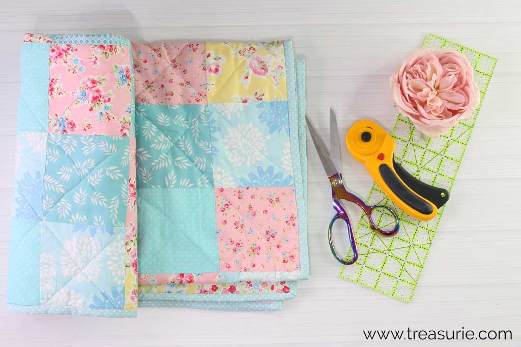 How to Make a Baby Quilt - Binding