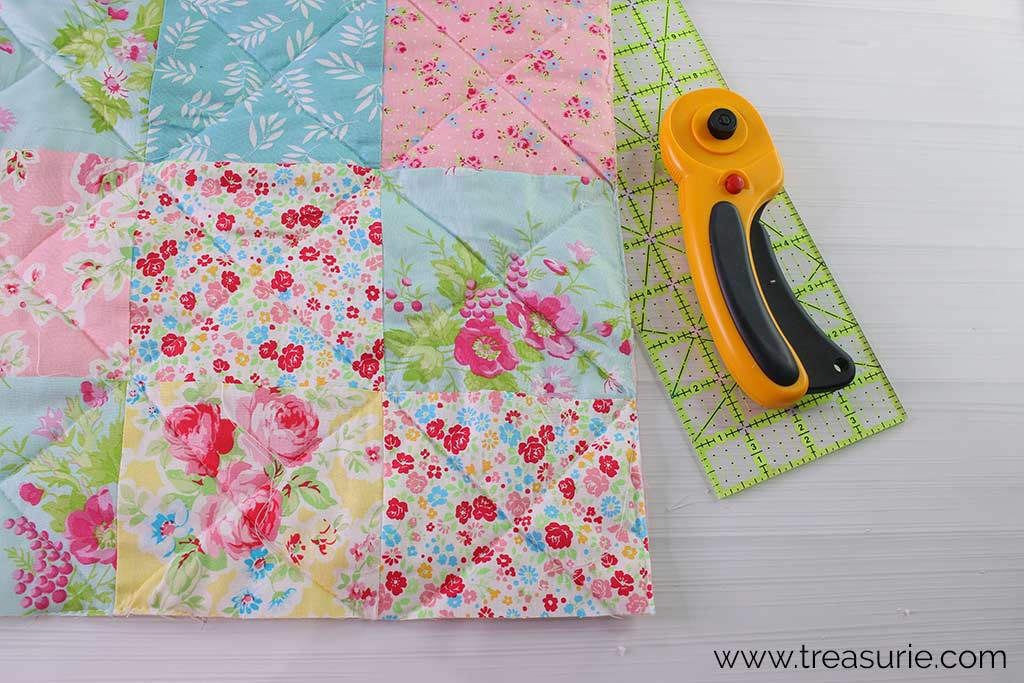 How to Make a Baby Quilt - Trim