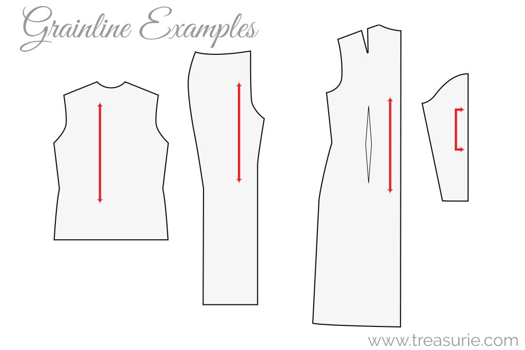Fabric Grainlines on a Sewing Pattern