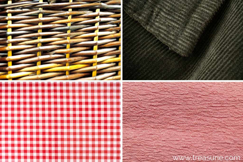 Fabric Weaves (1) Basket (2) Bedford (3) Checkered (4) Crepe