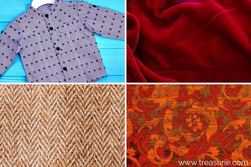 Fabric Weaves (1) Dobby (2) Double Cloth (3) Herringbone (4) Jacquard
