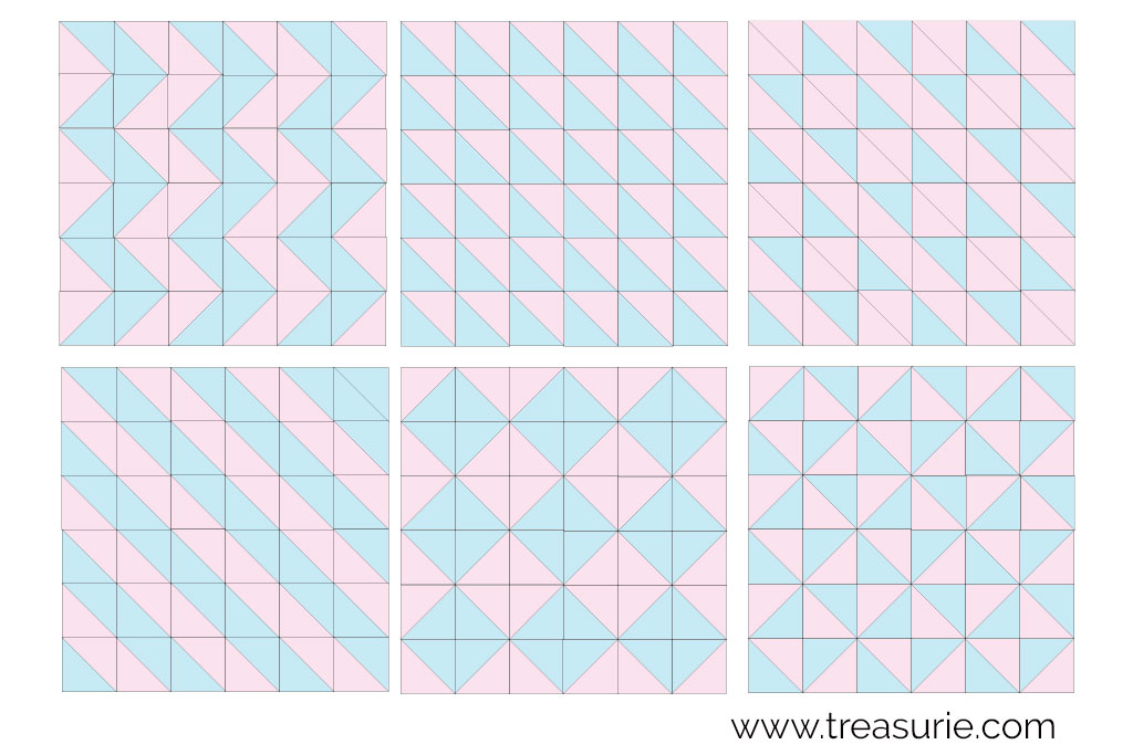 Half Square Triangle Patterns