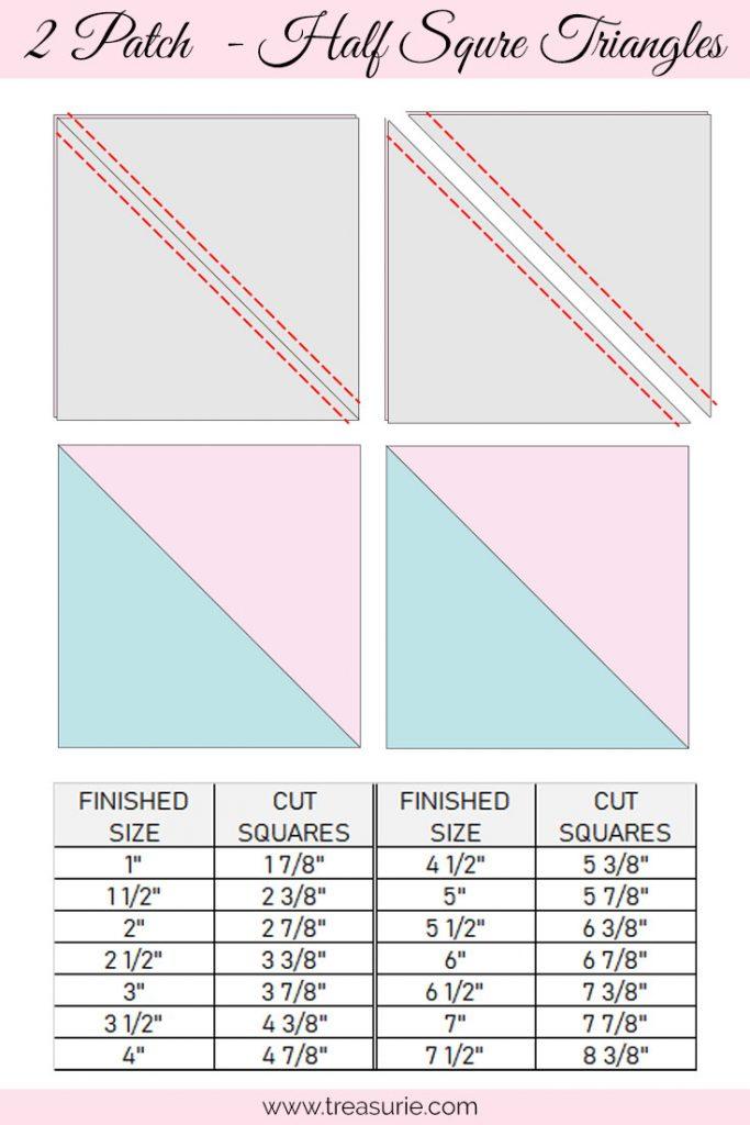 Pinwheel Quilt Blocks - Half Square Triangles