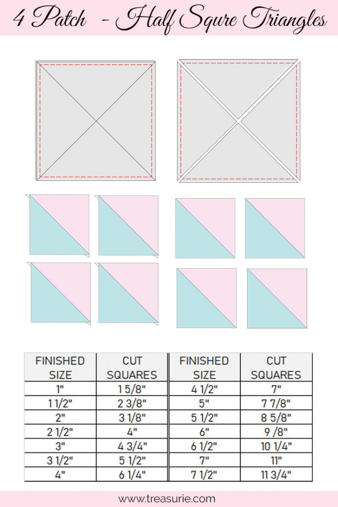 Half Square Triangles - 4 Patch