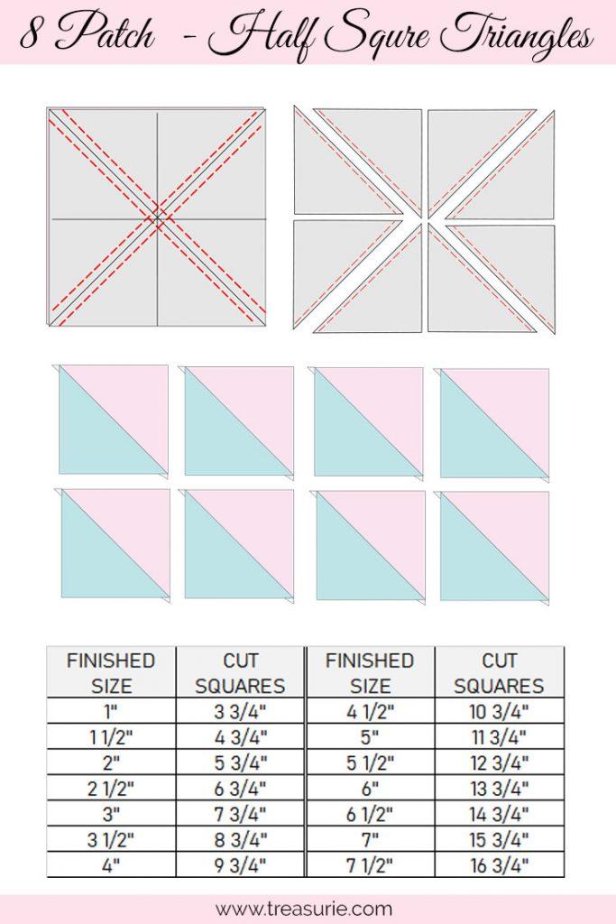 8 Patch Half Square Triangles