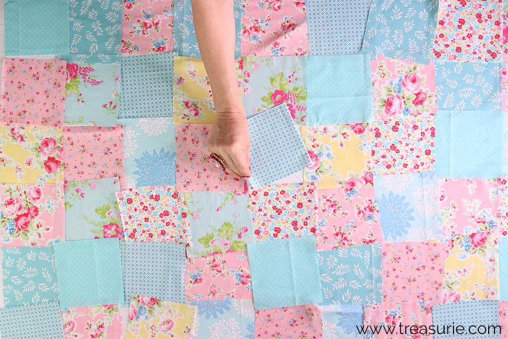 How to Make a Baby Quilt - Arranging