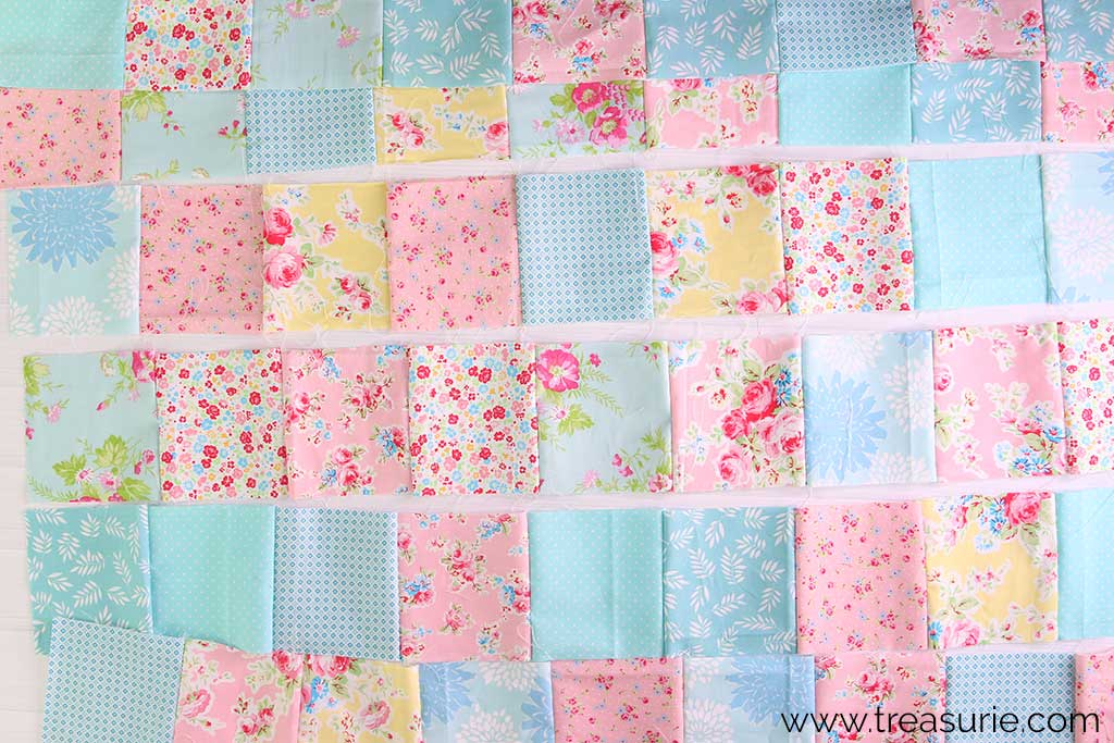 How to Make a Baby Quilt - Rows