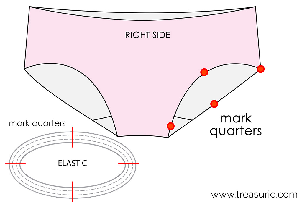 How to Sew Lingerie Elastic in The Round