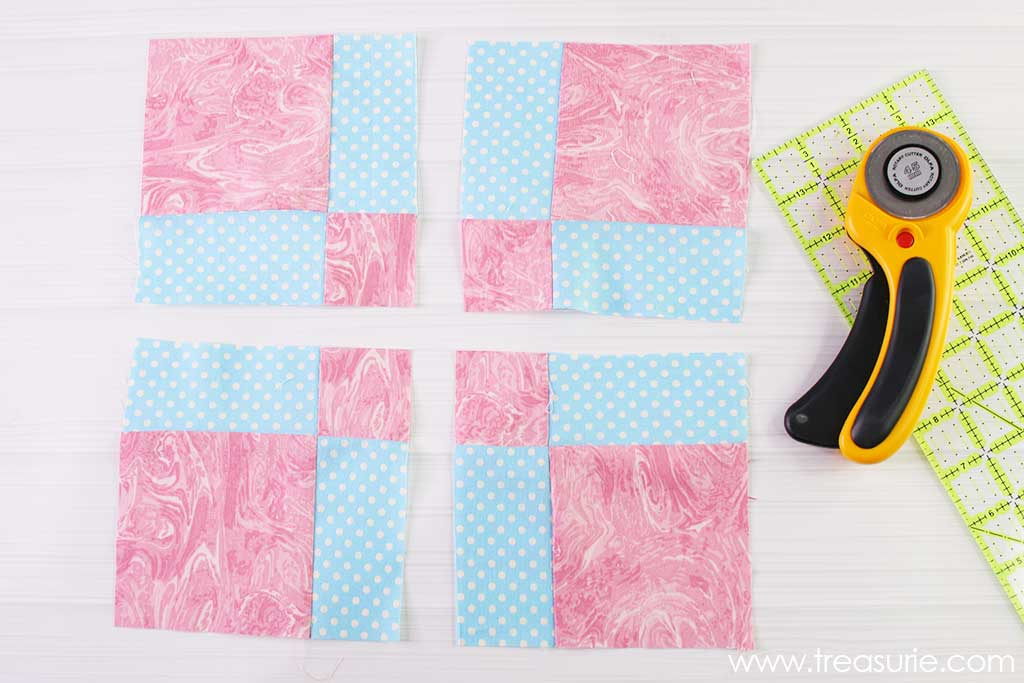 Nine Patch Quilt Block - Disappearing