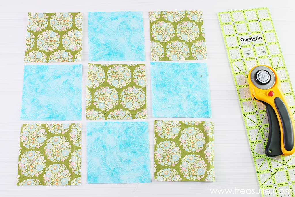 Nine Patch Quilt Block - Cutting