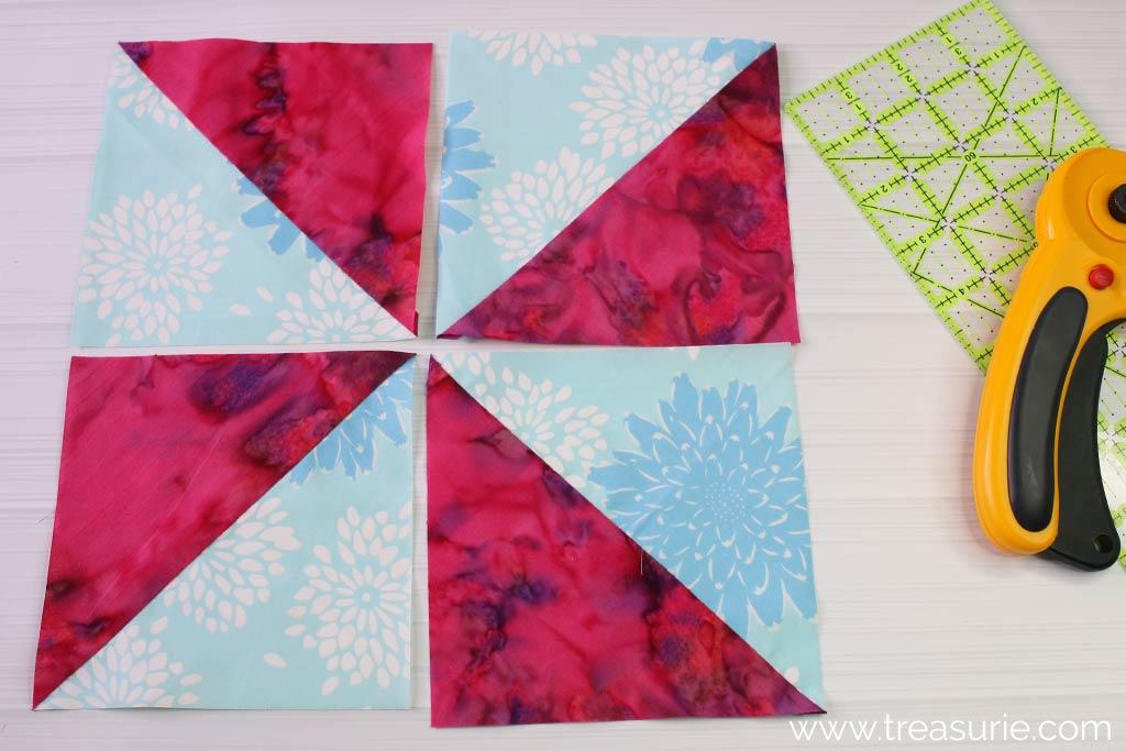 Pinwheel Quilt Blocks - Assembly