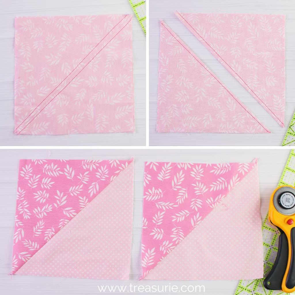 Double Pinwheel Blocks - Half Square Triangles