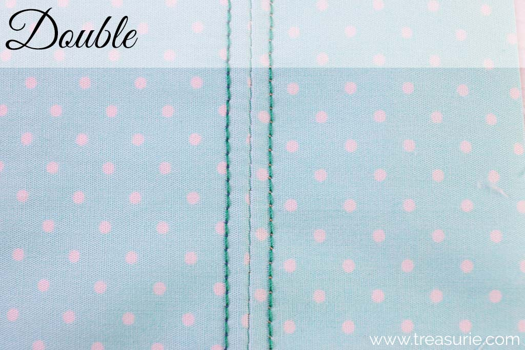 Plain Seams with Double Stitching