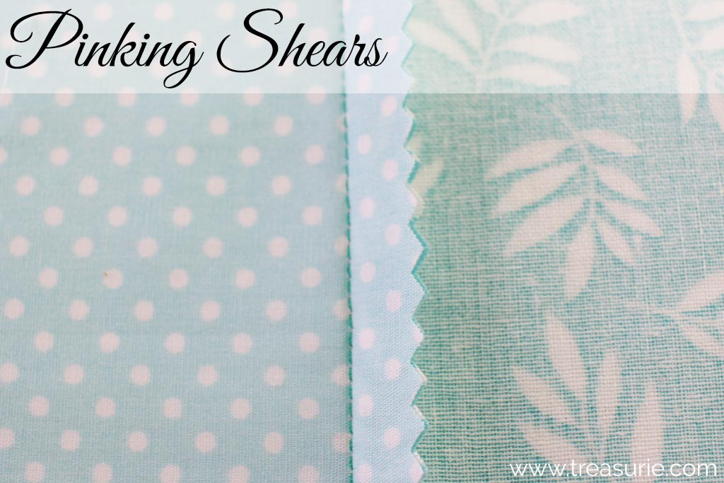 Plain Seams Finished with Pinking Shears