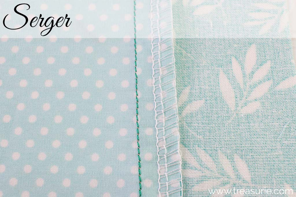 Plain Seams Finished with a Serger