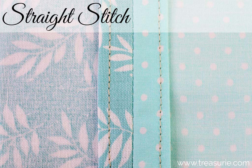 Plain Seams Finished with Straight Stitch