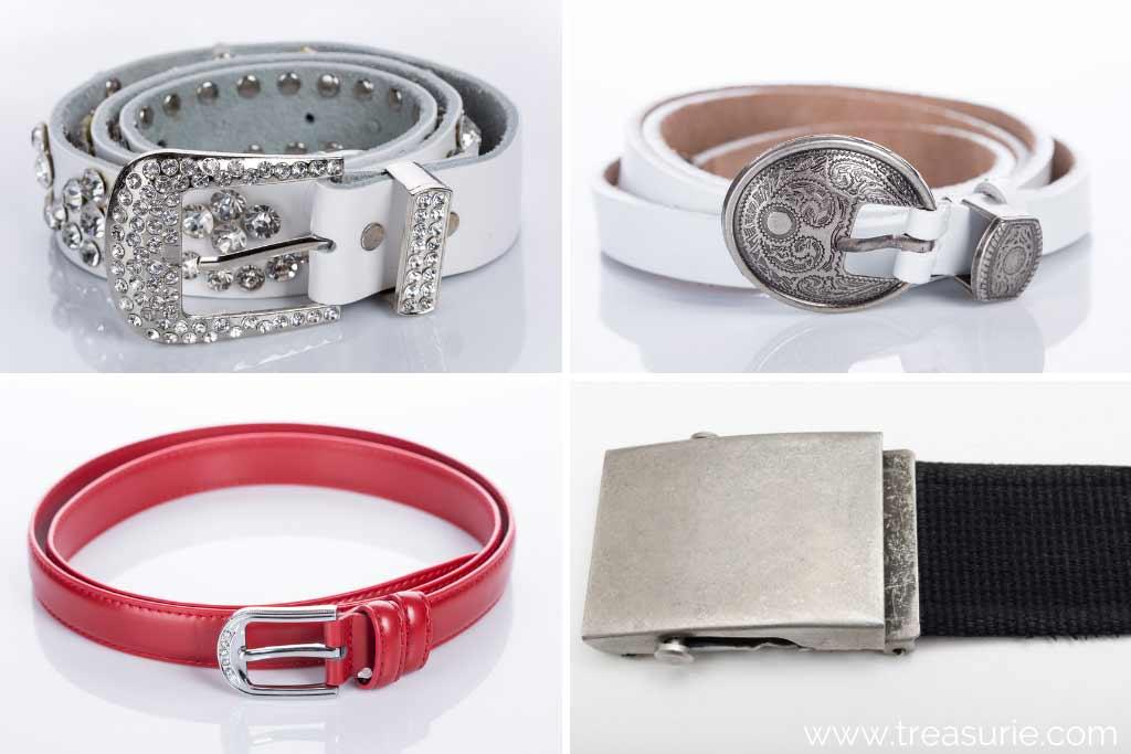 Types of Belts - Rhinestone, Embellished, Single, Lock