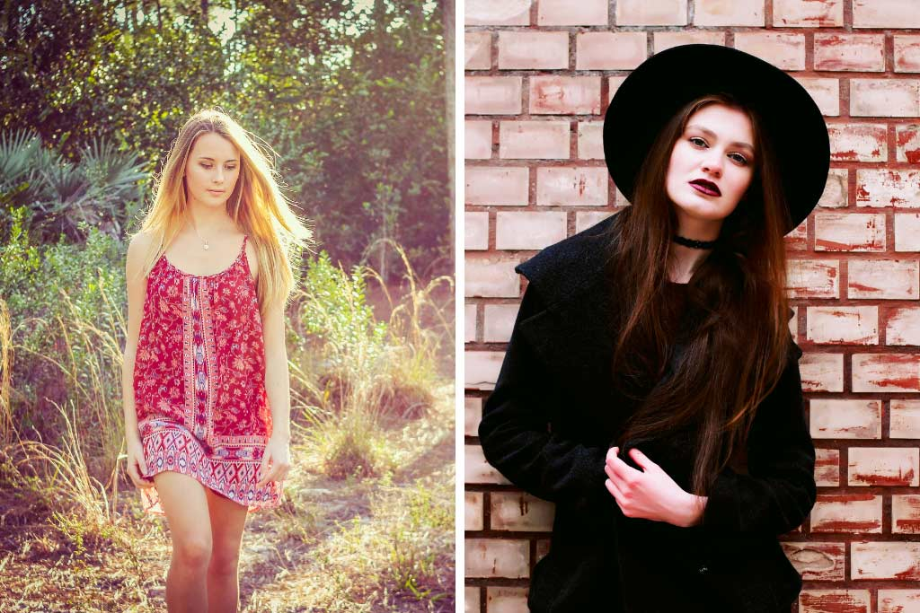 Fashion Styles - Girl Next Door and Goth