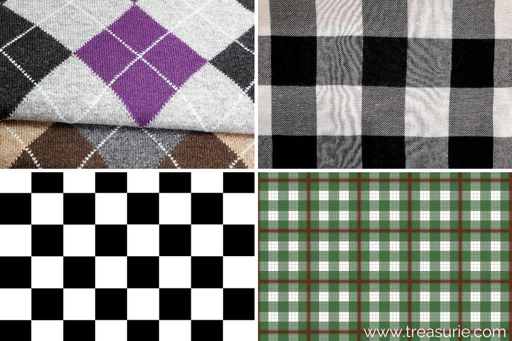 Checkered Pattern (1) Argyle (2) Buffalo (3) Checkerboard (4) Dupplin