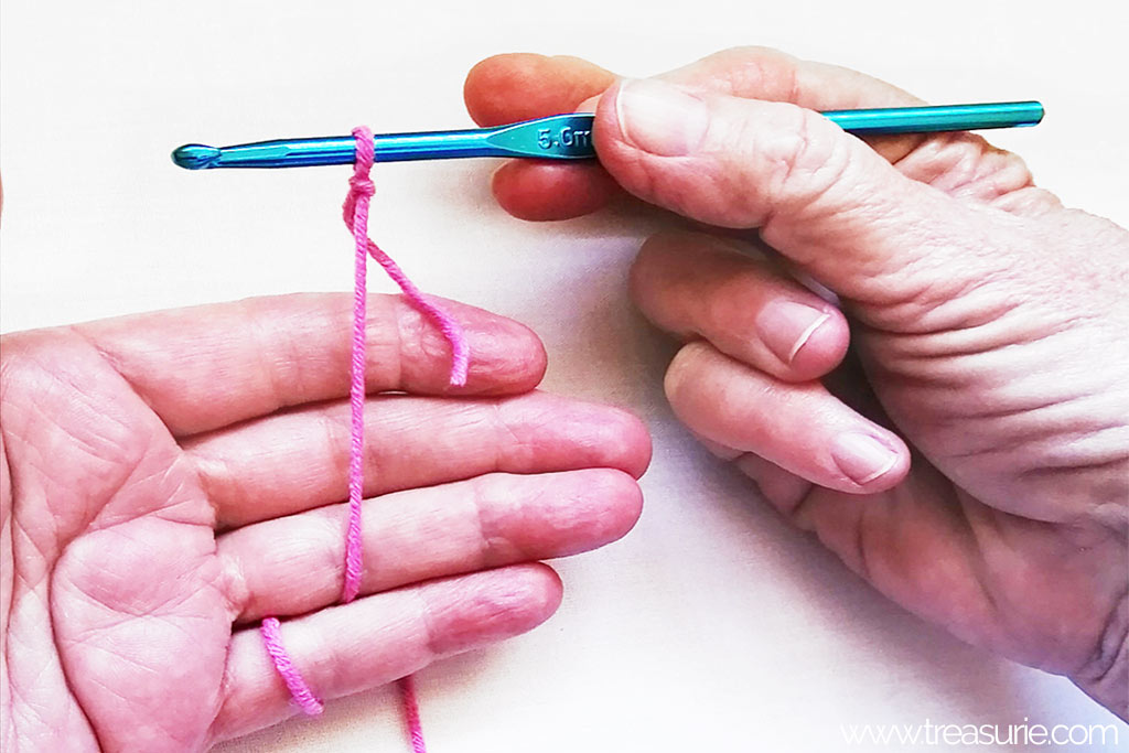 Crochet for Beginners - How to Hold a Hook