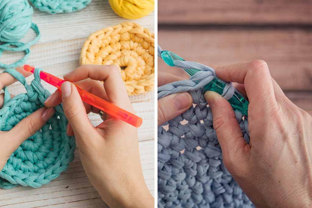Crochet Hook Sizes - Holding the Hook