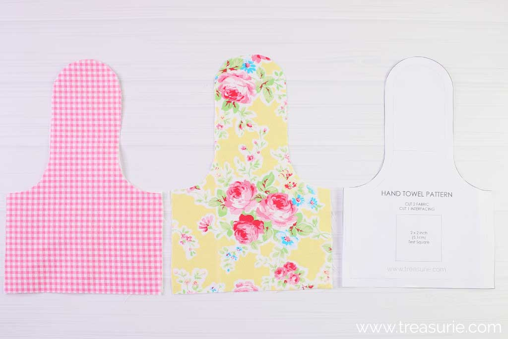 Hand Towel Pattern - Fabric Pieces