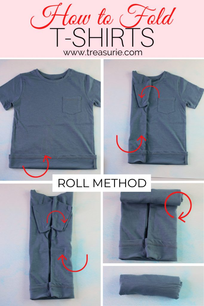 How to Fold a T-Shirt - Army Roll Method