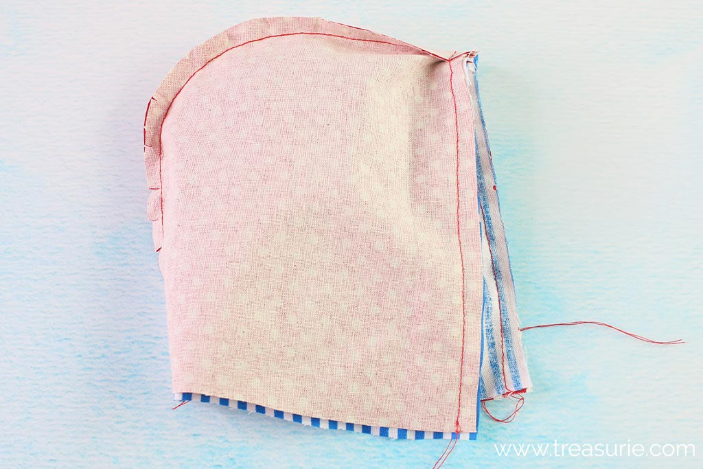 How to Make a Hood - Stitch Front