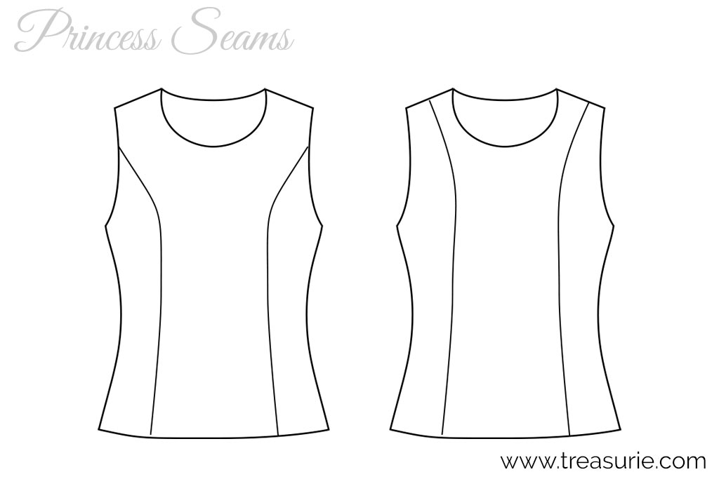 Princess Seams - Bust vs Shoulder
