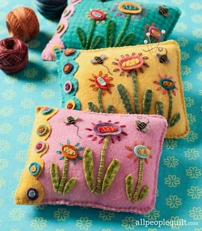 Pin Cushion Patterns #17 from All People Quilt