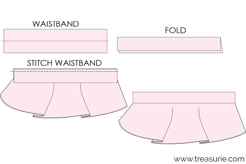 How to Make a Circle Skirt with Waistband