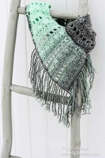 Crochet Scarf Patterns from Left in Knots