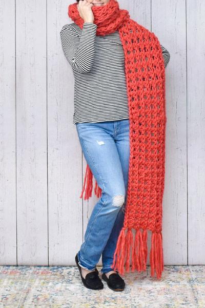 Crochet Scarf Patterns from Dream A Little Bigger