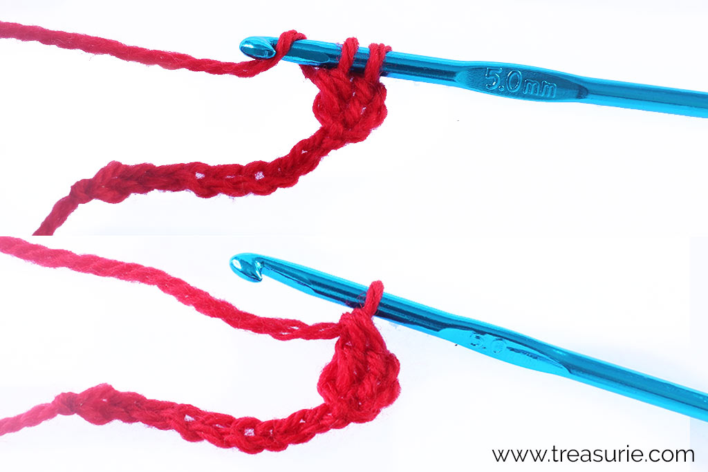 Double Crochet - Wrap and Pull