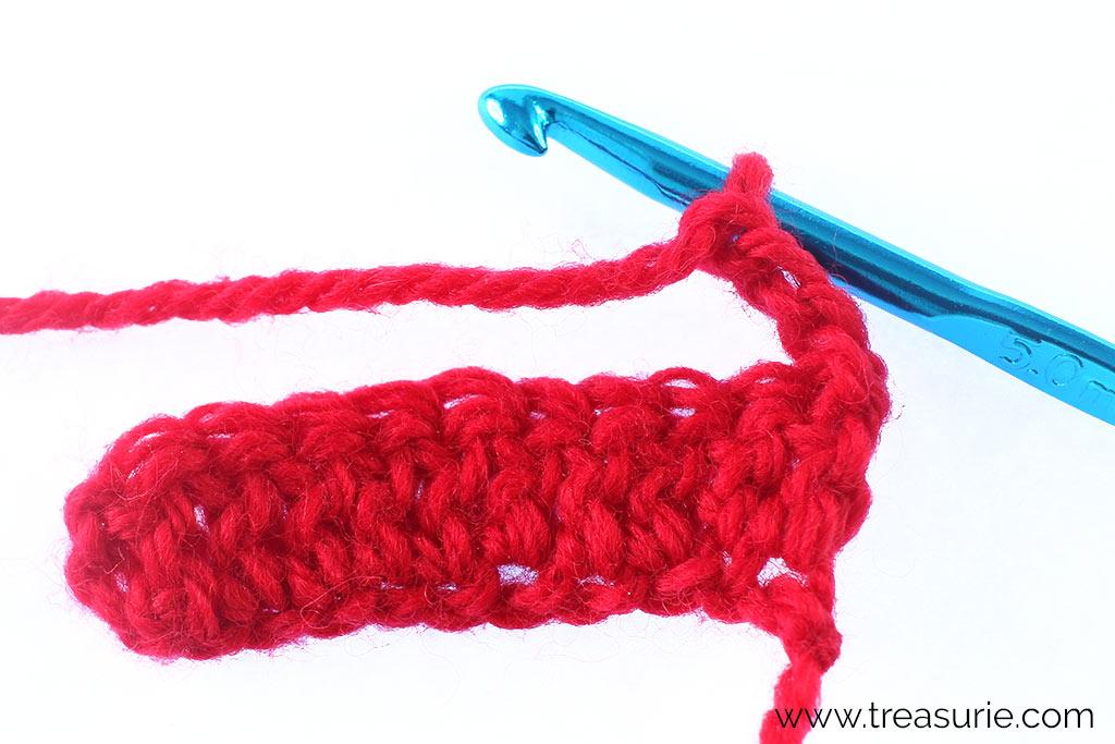 Double Crochet - Second Row