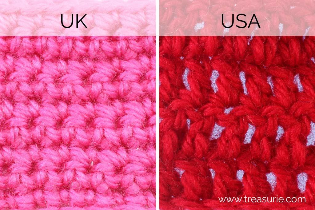Double Crochet US vs UK