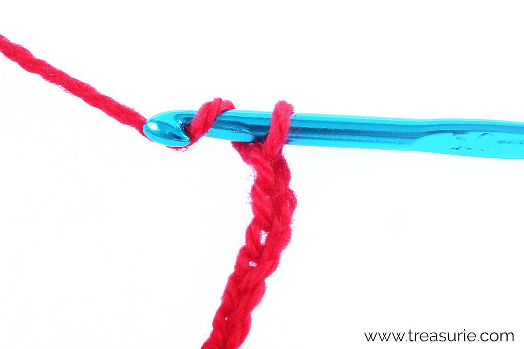 How to Double Crochet - Yarn Over