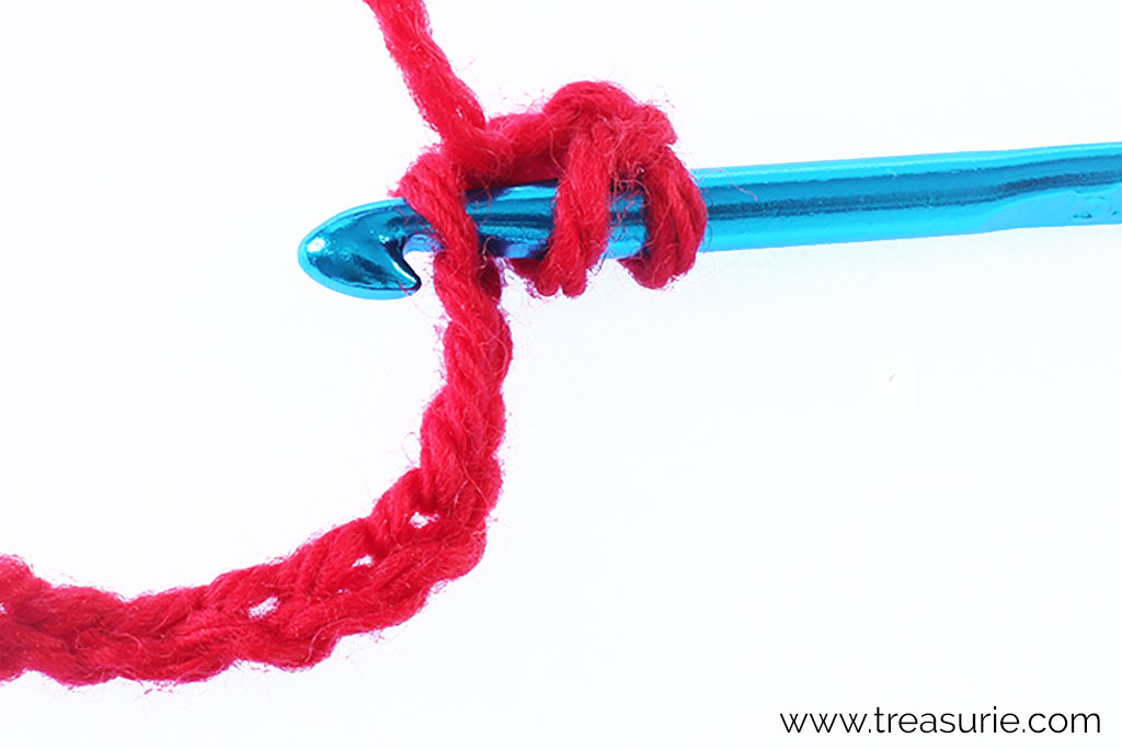 How to Double Crochet - Insert