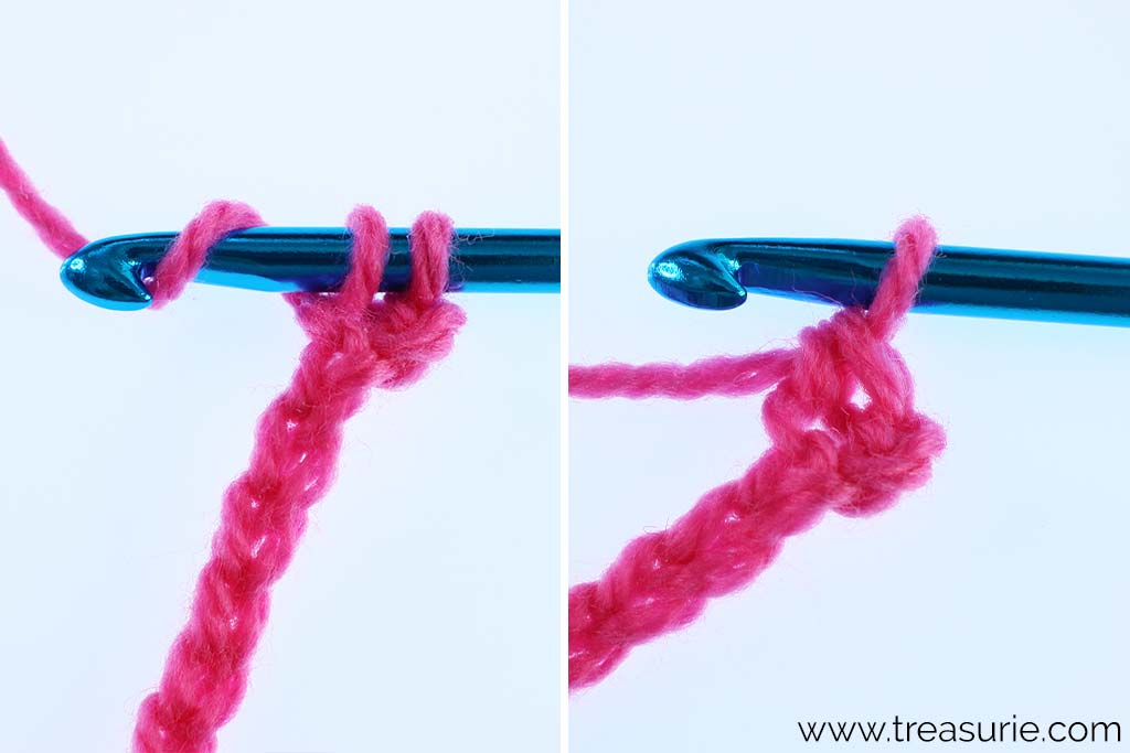 How to Single Crochet - Yarn Over and Pull