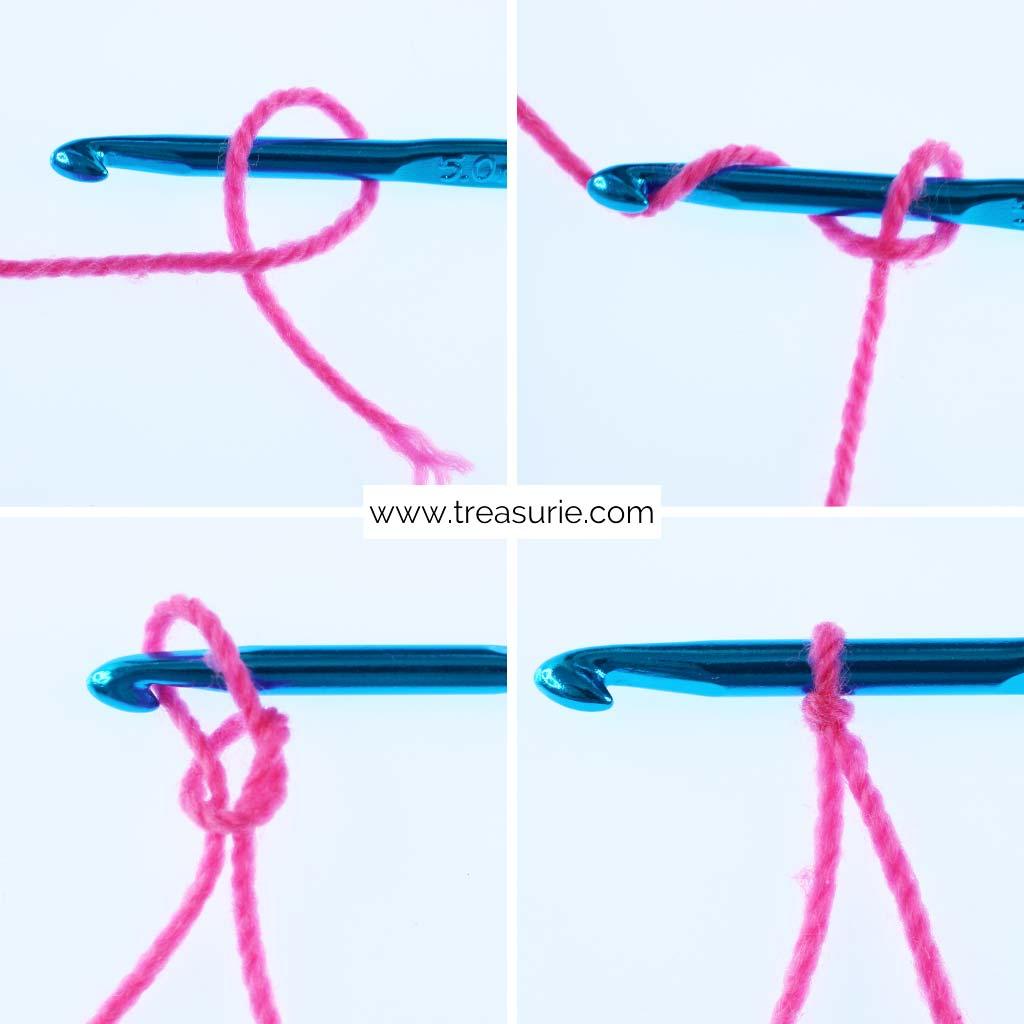 Basic Crochet Stitches - Slip Knot