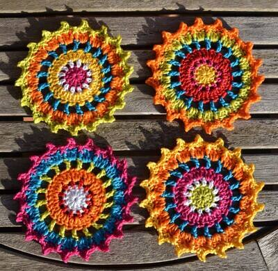 Free Crochet Coaster Patterns from Atelier Marie-Lucienne