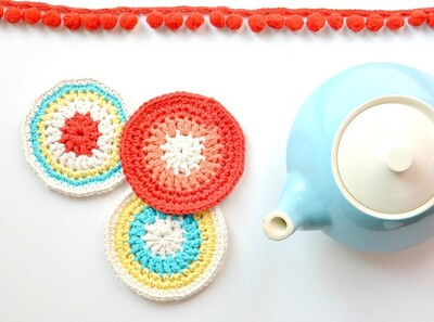 Free Crochet Coaster Patterns from Mama In A Stitch
