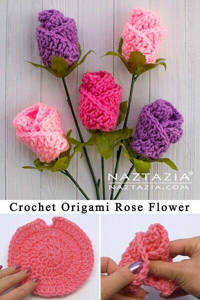 Free Crochet Flower Patterns from Naztazia