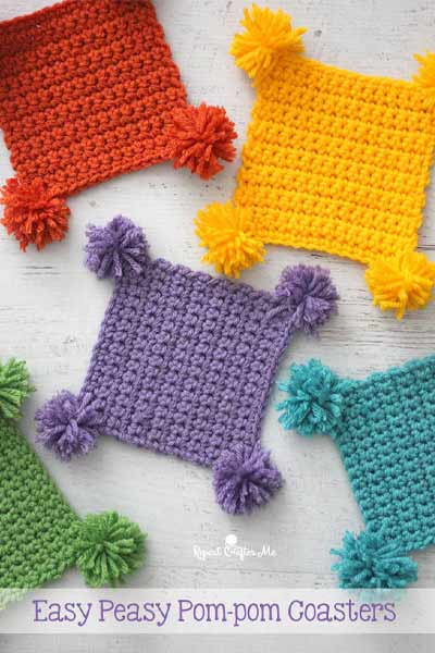 Free Crochet Coaster Patterns from Repeat Crafter Me